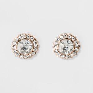 Flower Stud Rose Gold Earrings